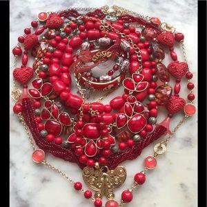 Red bold jewelry bundle